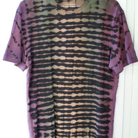 Men's Crew Neck Tribal Punk Fitted Hand Dyed T-Shirt