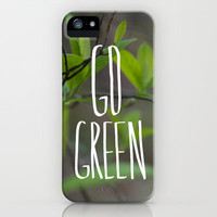 Go Green iPhone Case by Leah Flores Designs | Society6