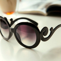 Wave lace round sunglasses