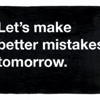 20x200 - Print Information | Untitled (Let's make better mistakes tomorrow), by MikeMonteiro