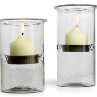 HURRICANE CANDLE HOLDERS | Sleek and Functional Glass and Metal Cylinders Double as Vases | UncommonGoods