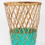 Diamond Weave Contrast Bottom Trash Can