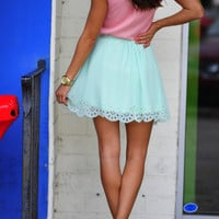 Sweet As Can Be Skirt: Mint | Hope's