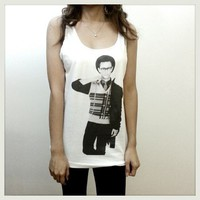 Joseph Gordon Levitt - Robin Women Tank Top Shirt White Tshirt
