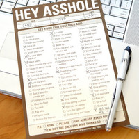 Hey Asshole Notepad