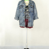 Grunge Denim Jacket 90s long sleeve