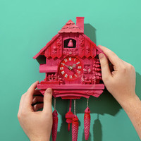 Pink Cuckoo Clock