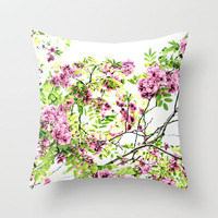 Blissful Throw Pillow by Lisa Argyropoulos | Society6