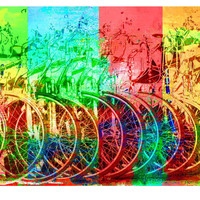 Bicycle Stand Wall Art