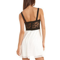 Lace-Top Chiffon A-Line Dress: Charlotte Russe