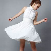 Cute mini tulle party dress (0193)