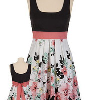 Contrast Floral Tank Dress - maurices.com