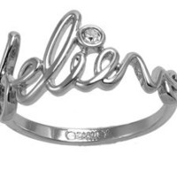 Disney Couture Believe Ring - Platinum Plated Size 7: Jewelry: Amazon.com