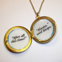 Always Locket Necklace by trophies on Etsy