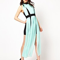 Renee London Dress With Sheer Maxi Overlay at asos.com