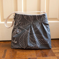 cross body camera bag // grey diaper bag // by olivetreetextiles