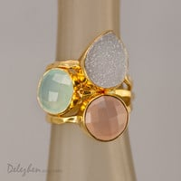 Statement Ring  Stacking Rings  Stackable Rings  by delezhen