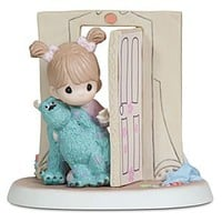 ''Everything Is Less Scary with a Friend'' Disney Girl with Sulley Figurine by Precious Moments | Disney Store