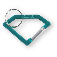 Diamond Supply Teal Carabiner Rock Key Chain