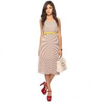 Bqueen Polka Dot Pattern Knee-length Dress F107E - Designer Shoes|Bqueenshoes.com