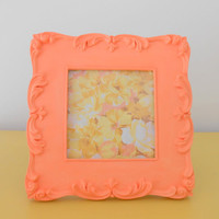 Peach picture frameSquare frame Ornate frame Coral by berryisland