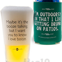 Irreverent Beer Glass Pints and Can Koozies