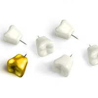 Kikkerland Teeth Push Pins (Set of 6)