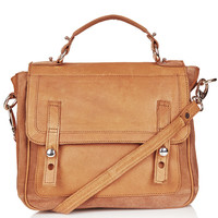 Suede And Leather Satchel - Bags &amp; Purses - Bags &amp; Accessories - Topshop