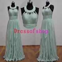 Chiffon Bridal gown wedding dress evening long by dressofshop
