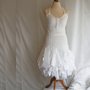 Fairy Wedding Dress Upcycled Clothing Tattered Romantic Dress Upcycled Woman&#x27;s Clothing Shabby Chic Funky Eco Style Made to Order