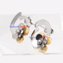 WJS Wholesale Elegant orchid stainless steel earrings | SKU : WJS485 - Wholesale Price $2.70