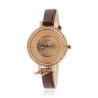 luxury rhinestone-studded luminous watch
