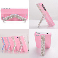 ladylove  lovely stand case for iphone4/4s