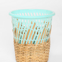 Half-Weave Contrast Top Trash Can