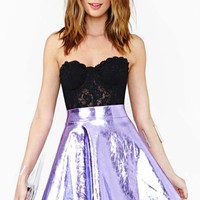 Electric Metal Skirt - Purple