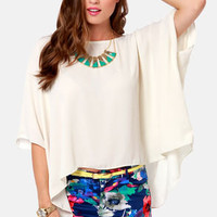 Square Necessities Cream Top