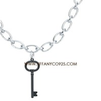Shopping Cheap Tiffany Black Enamel Keys Oval Key Pendant Necklace At Tiffanyco925.com - Discount Tiffany Necklaces