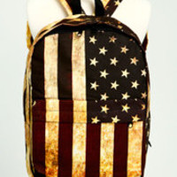 Distressed US Flag Backpack