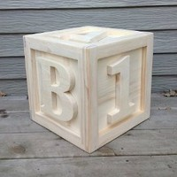 Amazon.com: 12x12x12 Large Wooden Block ABC 123: Camera &amp; Photo