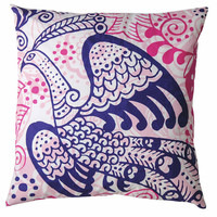 20 x 20 Bird of Paradise Pillow design by Koko Company | BURKE DECOR