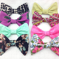 Set of Four Hair Bows- Choose any four bows from set