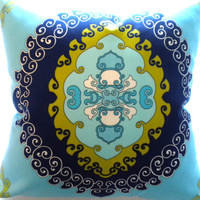 Trina Turk Pillow cover Super Paradise Print Pool