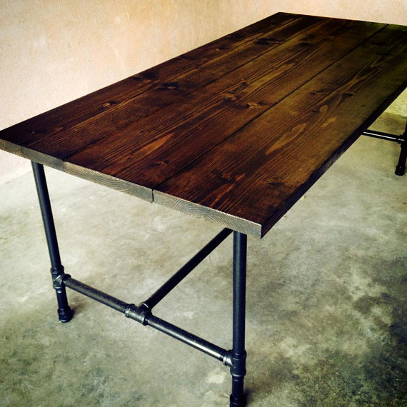 the jerry kitchen table handmade wood from therumroom on etsy