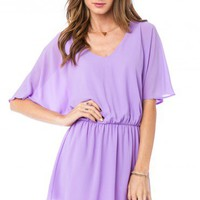 Barkley Dress in Lavender - ShopSosie.com