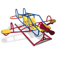 The Seven Child Airplane Teeter Totter - Hammacher Schlemmer