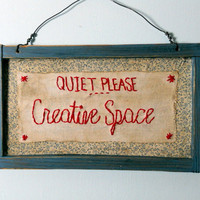 "$19.50 wooden sign ""Quiet Please"" by RHYMEABILLY"