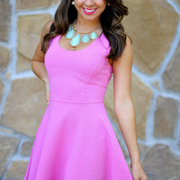 The Bubblegum Dress: Pink Chevron | Hope's