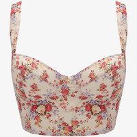 Garden Rose Print Corset