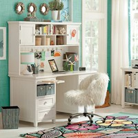 Beadboard Smart Desk + Hutch
