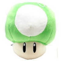 Super Mario Brothers Green Mushroom 8-inch Plush